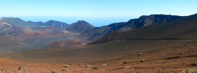 Haleakala Crater, Maui.  Sea to Summit to Sea