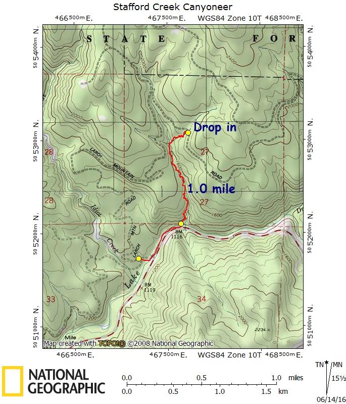 Stafford Creek Canyoneer 5-28-16